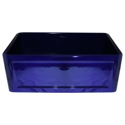 Reversible 30 x 18 Fireclay Kitchen Sink Finish: Sapphire Blue
