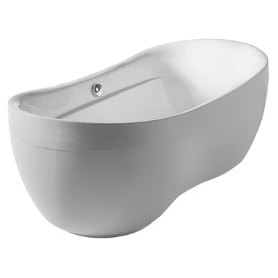 Bathhaus 70.88 x 35.5 Freestanding Bathtub