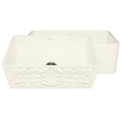 Gothichaus 30 x 18 Reversible Fireclay Kitchen Sink Finish: Biscuit