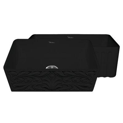 Gothichaus 30 x 18 Reversible Fireclay Kitchen Sink Finish: Black