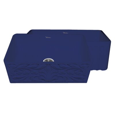 Gothichaus 30 x 18 Reversible Fireclay Kitchen Sink Finish: Sapphire Blue