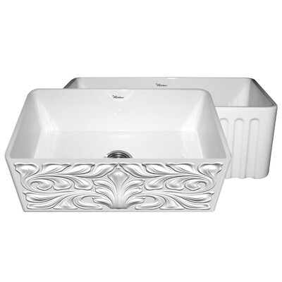 Gothichaus 30 x 18 Reversible Fireclay Kitchen Sink Finish: White