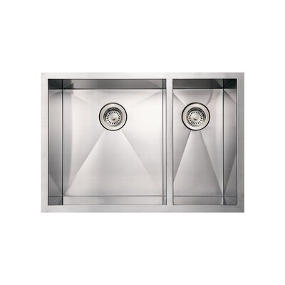 Noahs 29 x 20 Commercial Double Bowl Undermount Kitchen Sink