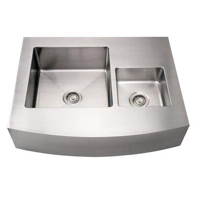 Noahs 36 x 29 Commercial Double Bowl Farmhouse Undermount Kitchen Sink