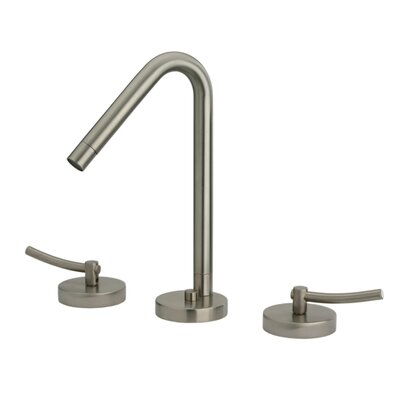 Metrohaus Double Handle Bathroom Widespread Faucet with Swivel Spout Finish: Brushed Nickel