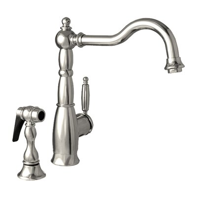 Essexhaus Single Handle Kitchen Faucet with Side Spray Finish: Polished Chrome