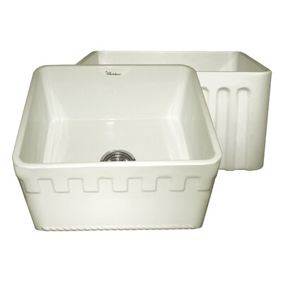 Reversible 20 x 18 Fireclay Kitchen Sink Finish: Biscuit