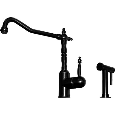 Jem Single Handle Kitchen Faucet with Side Spray Finish: Oil Rubbed Bronze Highlight