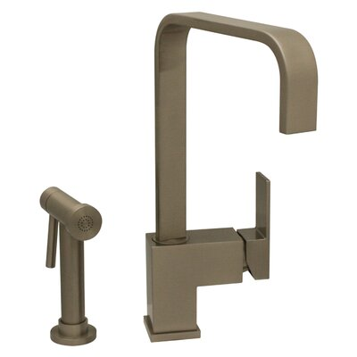 Jem Single Handle Kitchen Faucet with Side Spray Finish: Brushed Nickel