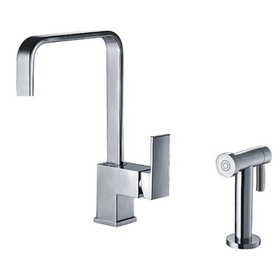 Jem Single Handle Faucet with Side Spray Finish: Polished Chrome