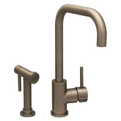 Jem Single Handle Faucet with Swivel Spout and Side Spray Finish: Brushed Nickel