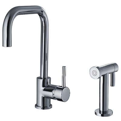 Jem Single Handle Faucet with Swivel Spout and Side Spray Finish: Polished Chrome