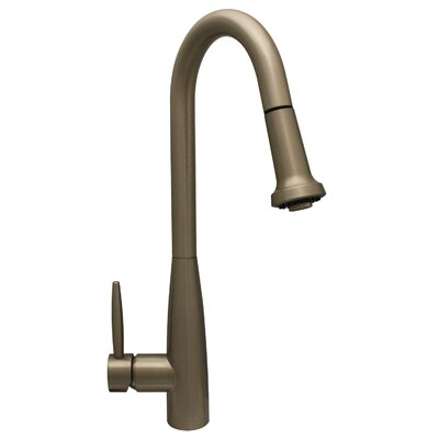 Jem Single Handle Faucet with Gooseneck Swivel Spout Finish: Brushed Nickel