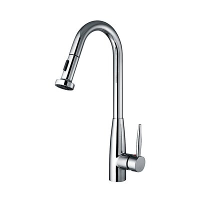 Jem Single Handle Faucet with Gooseneck Swivel Spout Finish: Polished Chrome