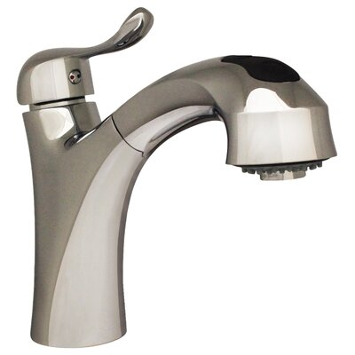 Jem Single Handle Faucet with Pull Out Spray Head Finish: Polished Chrome
