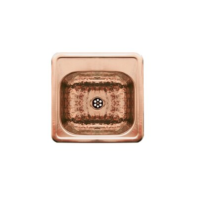 Entertainment 15 x 15 Prep Square Drop in Kitchen Sink Finish: Polished Copper