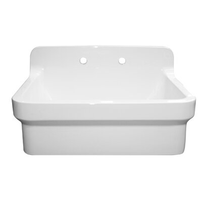 Countryhaus 30 x 22 Single Fireclay Drop-In Utility Sink Sink Finish: White