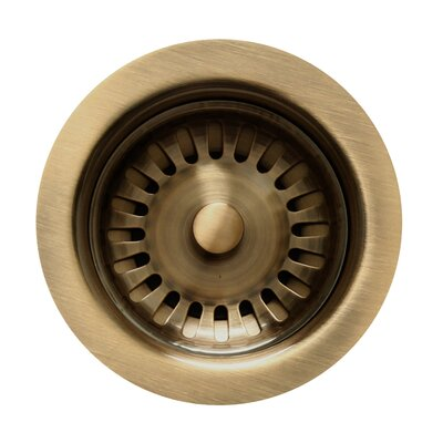 3.5 Basket Strainer for 3.5 Kitchen Sinks Finish: Antique Brass