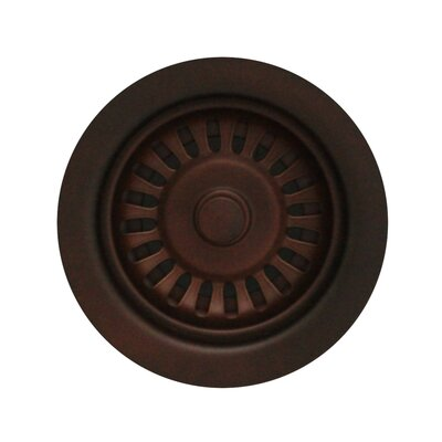 Rainbow 3.5 Basket Strainer with Plunger Mechanism Finish: Mahogany Bronze