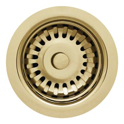 3.5 Basket Strainer for 3.5 Kitchen Sinks Finish: Polished Brass