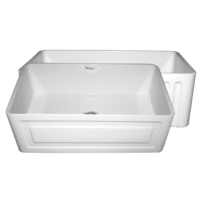 Reversible 30 x 18 Fireclay Kitchen Sink Finish: White