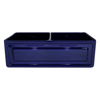 Reversible 33 x 18 Fireclay Kitchen Sink Finish: Sapphire Blue