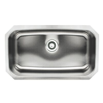 Noahs 29.5 x 17.5 Stainless Steel Undermount Retangular Kitchen Sink