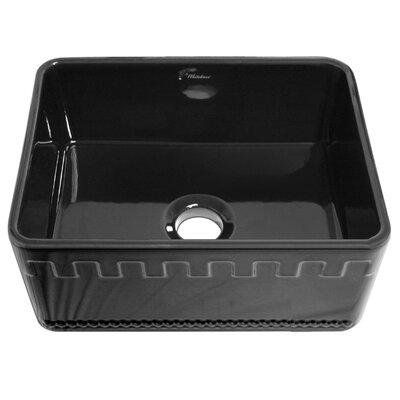 Reversible 24 x 18 Fireclay Kitchen Sink Finish: Black