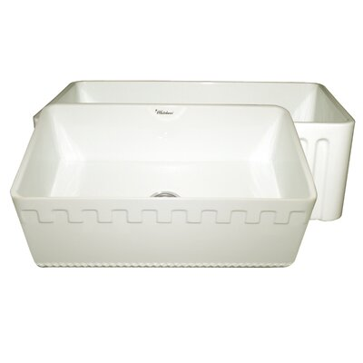 Reversible 30 x 18 Fireclay Kitchen Sink Finish: Biscuit