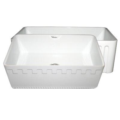 Reversible 30 x 18 Fireclay Kitchen Sink Finish: White