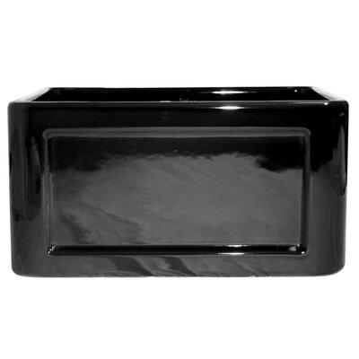 Reversible 20 x 18 Fireclay Kitchen Sink Finish: Black