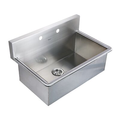 Noahs 31 x 19.5 Stainless Steel Commercial Drop-In Laundry-Scrub Kitchen Sink