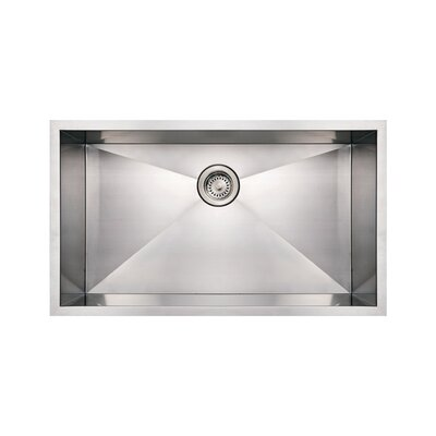 Noahs 32 x 19 Commercial Single Bowl Undermount Kitchen Sink