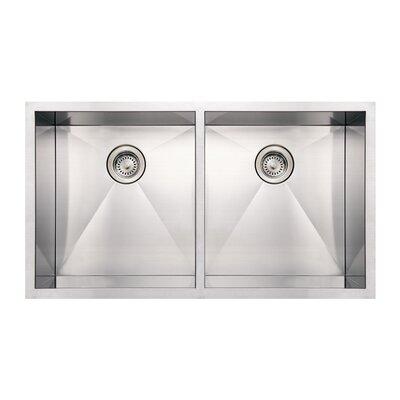 Noahs 37 x 20 Commercial Double Bowl Undermount Kitchen Sink
