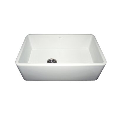 Duet 30 x 18 Single Bowl Farmhouse Kitchen Sink Finish: White