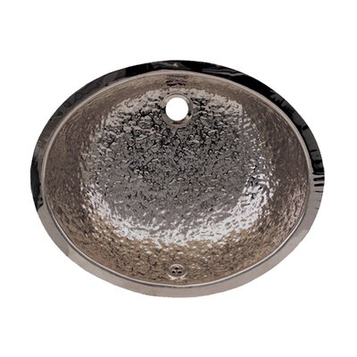 Decorative Oval Undermount Bathroom Sink with Overflow Finish: Polished Stainless Steel