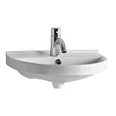China Series Ceramic 18 Wall Mount Bathroom Sink with Overflow