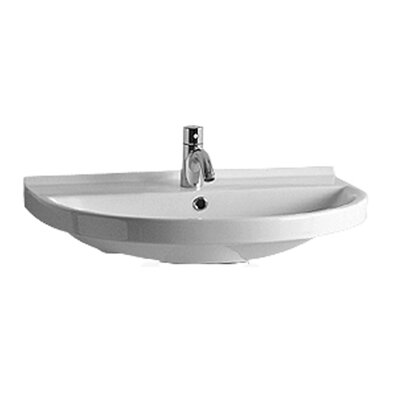 China Ceramic 28 Wall Mount Bathroom Sink with Overflow