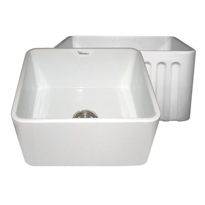 Reversible 20 x 18 Fireclay Kitchen Sink Finish: White