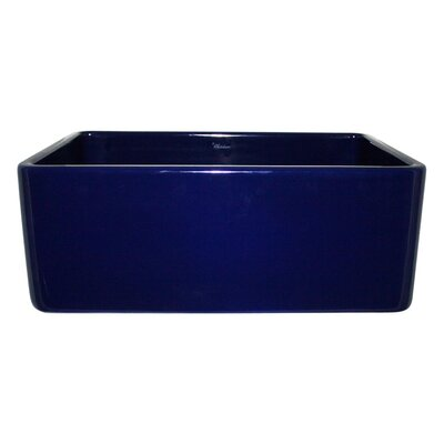 Reversible 24 x 18 Fireclay Kitchen Sink Finish: Sapphire Blue