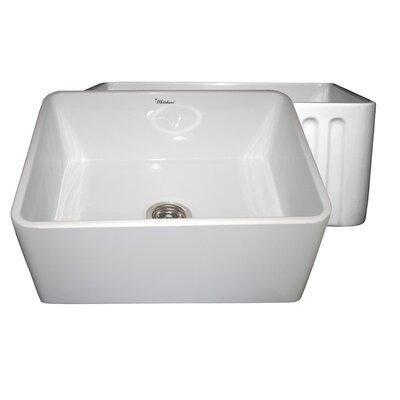 Reversible 24 x 18 Fireclay Kitchen Sink Finish: White