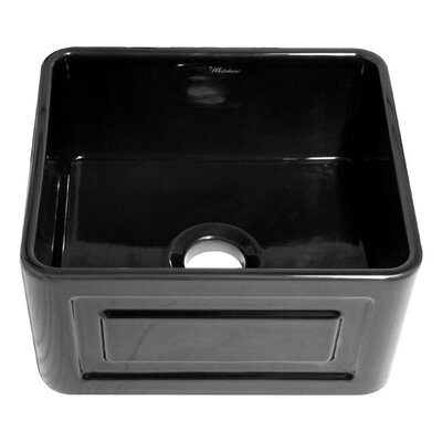 Reversible 20 x 18 Fireclay Kitchen Sink Finish: Black