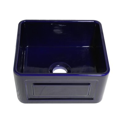 Reversible 20 x 18 Fireclay Kitchen Sink Finish: Sapphire Blue