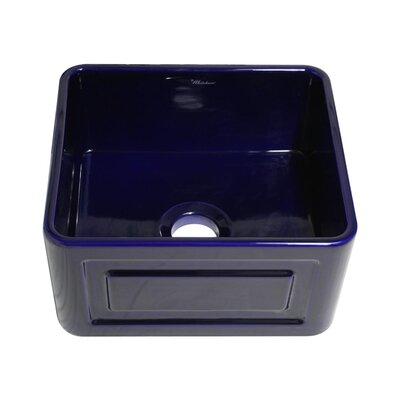 Reversible 20 x 18 Fireclay Kitchen Sink Finish: Sapphire Blue