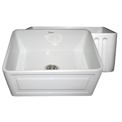 Reversible 24 x 18 Fireclay Kitchen Sink Finish: White