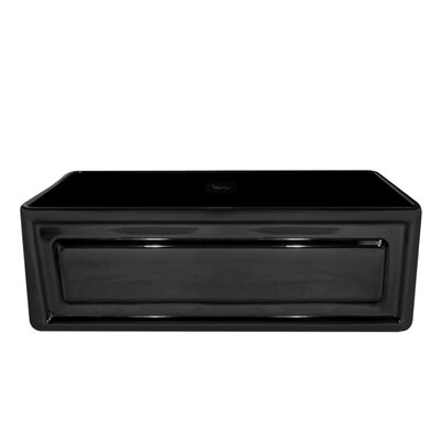 Reversible 30 x 18 Fireclay Kitchen Sink Finish: Black