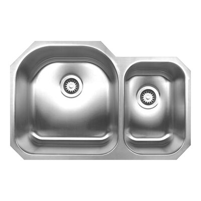 Noahs 31.5 x 20.75 Chefhaus Double Bowl Undermount Kitchen Sink