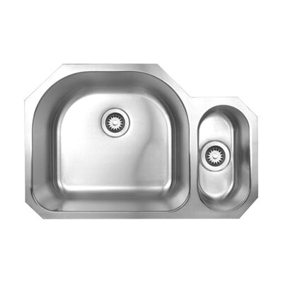 Noahs 31.5 x 20.88 Chefhaus Double Bowl Undermount Kitchen Sink