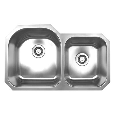 Noahs 31.88 x 19.88 Chefhaus Double Bowl Undermount Kitchen Sink