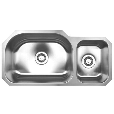 Noahs 32.75 x 16.75 Chefhaus Double Bowl Undermount Kitchen Sink